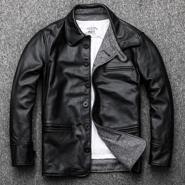 할인판매 해외구매 리얼 소가죽 패션 라이더 자켓