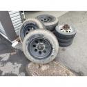 245 75 16 6홀 인치업 휠타이어 4개 한세트 판매